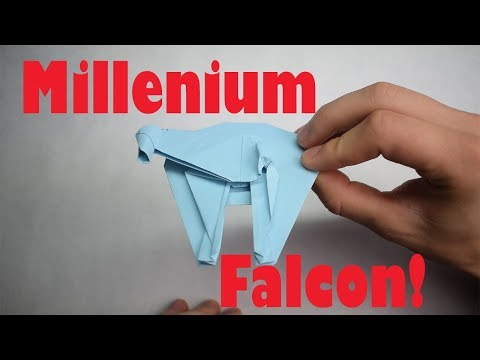 How to Fold an Origami Millennium Falcon