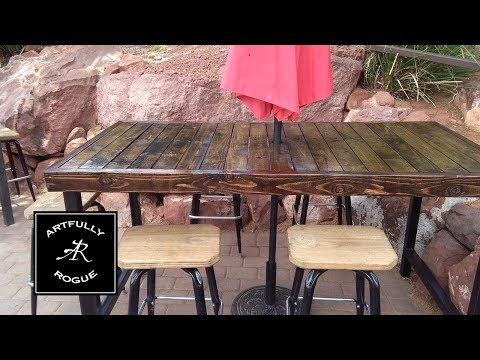 A Rustic Style Patio Table