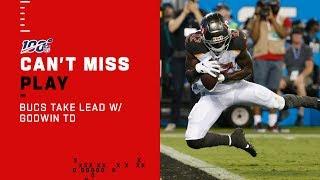 Winston Fires TD Pass to Godwin, Bucs Take the Lead