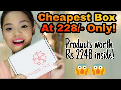 Euphorbia Box April 2018 @228 || Free bag + Products worth Rs 2248 || Sayantani Some