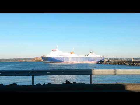 Condor ferries departing jersey harbour.