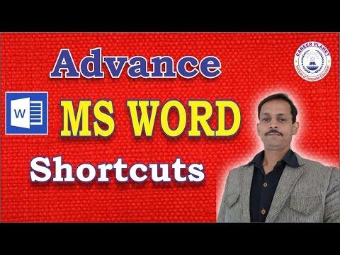 MS Word Shortcuts Keys Advance-Part-2|Microsoft Office Word Tutorial in Hindi
