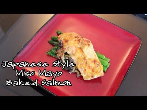 Japanese Style Miso Mayo Baked Salmon