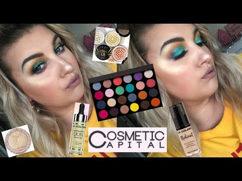 NEW! J.CAT BEAUTY,L.A GIRL, LA COLORS AFFORDABLE TRY ON HAUL | COSMETIC CAPITAL