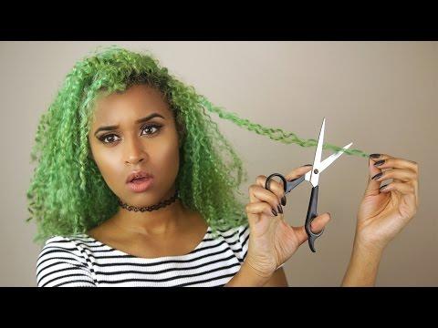 How I Cut My Curly Hair - SPONTANEOUS 4am Haircut!    Curly Hair Tutorial