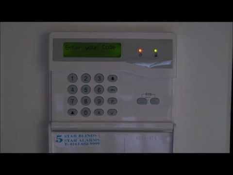 How to change burglar alarm code Honeywell g4