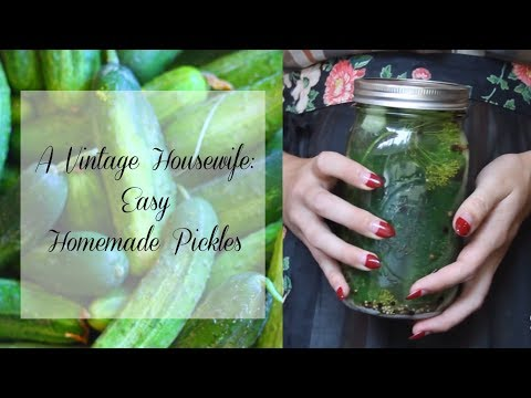 The Vintage Home: Easy Homemade Pickles