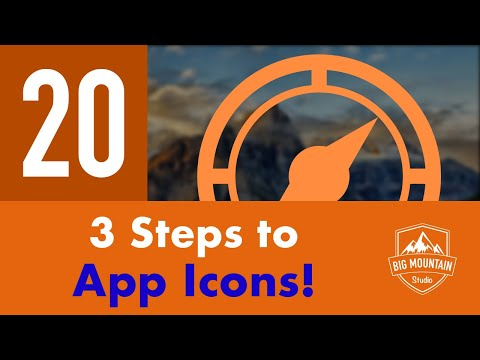 3 Steps to App Icons with FREE Tools! - Part 20 - Itinerary App (iOS, Xcode 10)