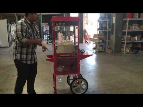 Commercial Grade Popcorn Machine Maker Red Popcorn Popper Machine Maker Cart