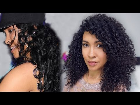 Natural Hair Journey  from Straight to Curly. How to get curly hair.