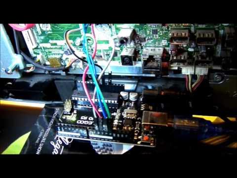 Blank black Screen fix HP 23 Envy AIO PC corrupt bios repair Arduino flash