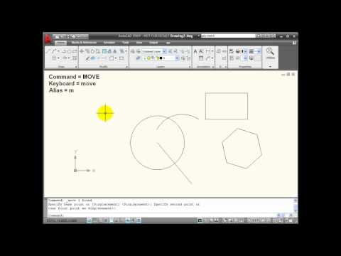 AutoCAD Tutorials - Using the MOVE Command