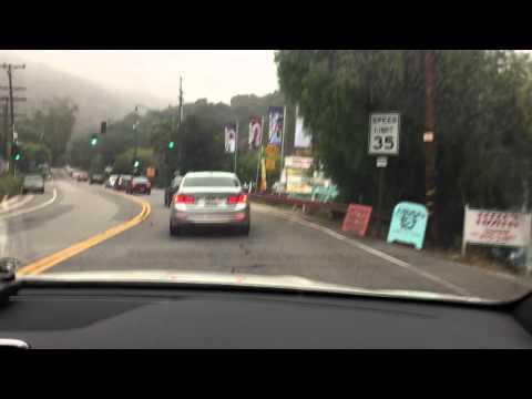 Los Angeles Scenic Drive Taken With Dashboard Cam - Malibu, PCH, Topanga, Santa Monica