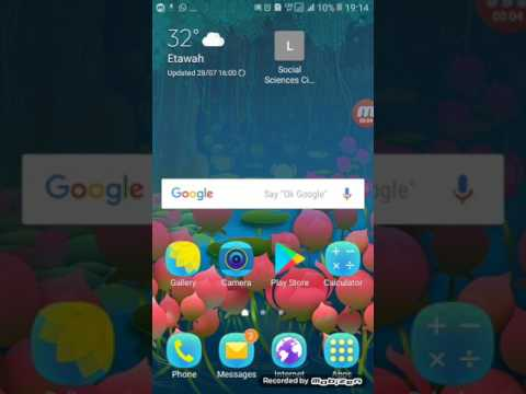 How to take a screen shot on Samsung galaxy j2 ACE