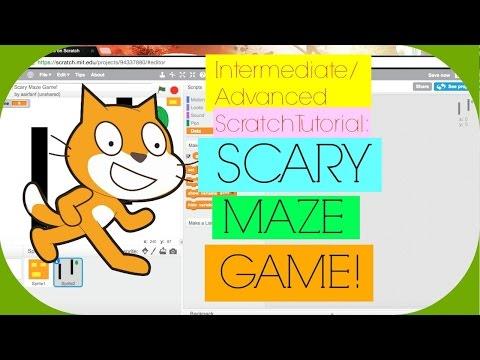Intermediate/Advanced Scratch Tutorial: Scary Maze Game (Part 1) | MCGUY