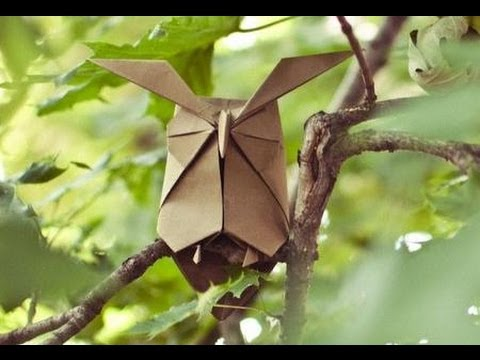 Origami wise Owl by Hideo Komatsu (part 1of 2) - Yakomoga Origami tutorial