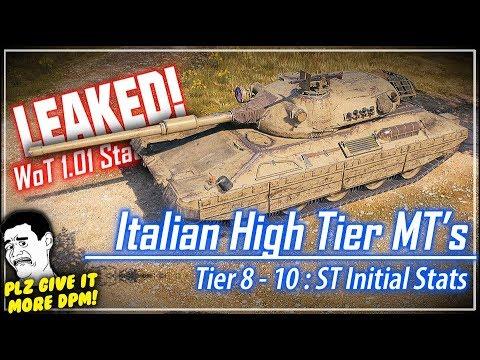LEAKED! Italian High Tier MT's Stats || World of Tanks