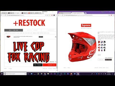 Supreme Fox Racing Week 12 LIVE COP SS18 + Restock