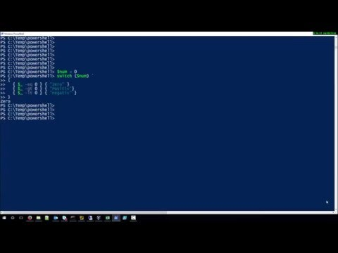 How to use switch in Powershell