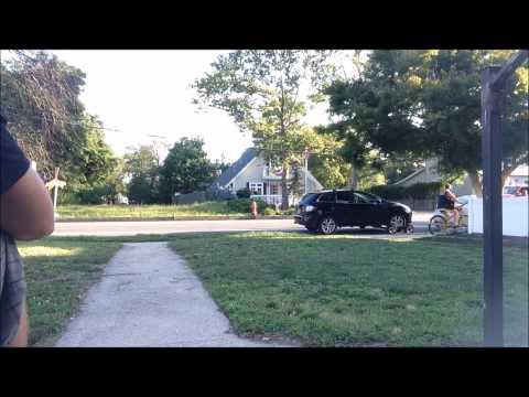 Towing the neighbors car.