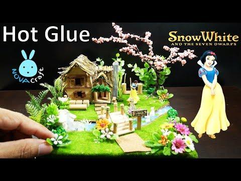 Hot Glue Waterfall Tutorial SnowWhite Garden  | Awesome Hot Glue DIY Life Hacks for Crafting Art#006