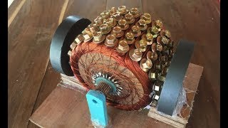 How to make a powerful DC motor using 120 screws , science school project 2017