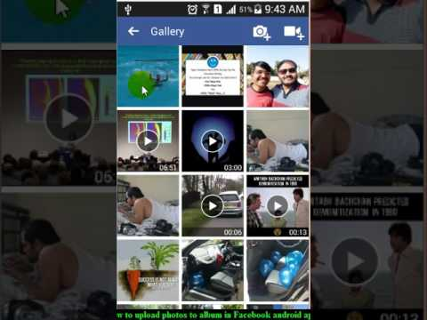How to upload photos to album in Facebook android app