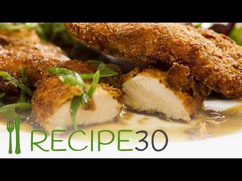 CRISPY FRIED CHICKEN WITH HONEY AND SOY GLAZE - By www.recipe30.com