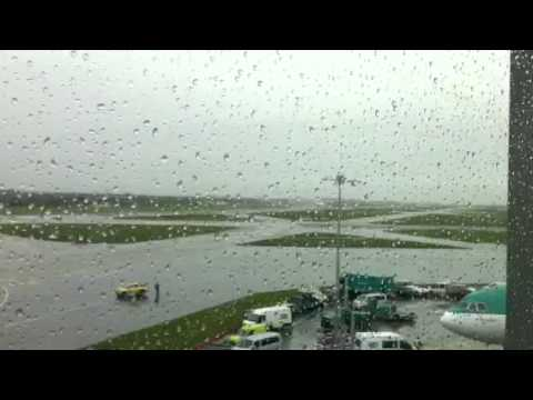 Air force one landing in Dublin airport
