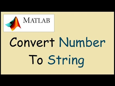How to convert a number to string in Matlab