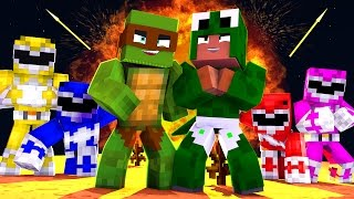 Minecraft - TEAMING WITH THE POWER RANGERS TO DEFEAT EVIL!