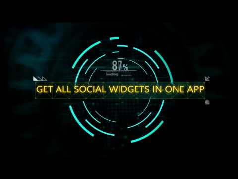 GET ALL SOCIAL (FB, WHATSAPP, TWITTER, INSTAGRAM etc) WIDGET IN ONE SMALL APP | SNS SOCIAL MEDIA