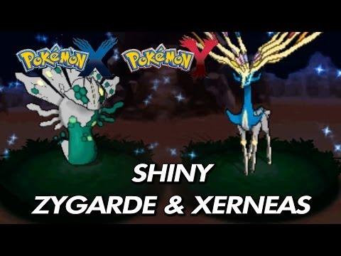 Pokemon X & Y - Shiny Zygarde & Shiny Xerneas (Gameplay Scenes)