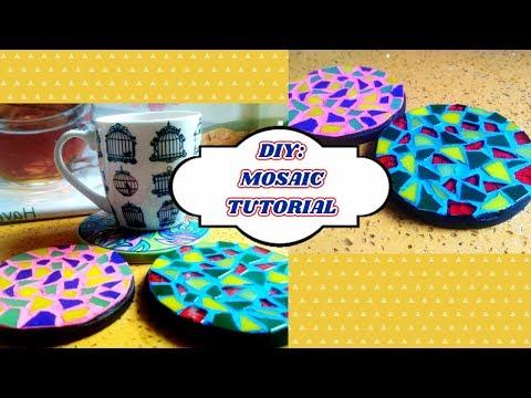 DIY - Basic Mosaic Tutorial/ DIY: Mosaic Art/ Mosaic Coasters