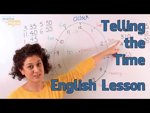 How to Tell the Time - English Functional Language Lesson (Elementary)