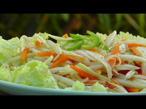 Vegan Vegetarian Thai Recipe: Som Tam - green Papaya Salad