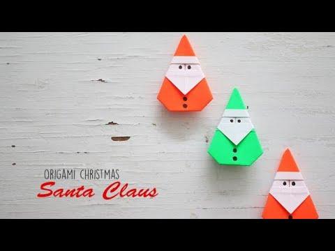 DIY Origami Santa Claus