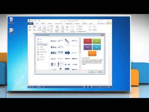 How to create a flow chart with pictures in Microsoft® Word 2013