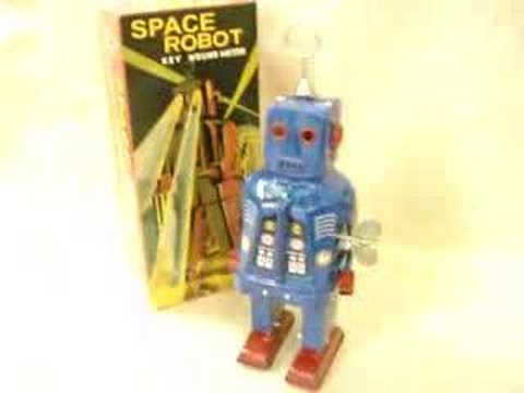 Schylling Blue Space Robot Wind-up Toy