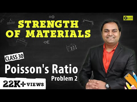 Poisson's Ratio - Problem 2 - Stress and Strain - Strength of Materials