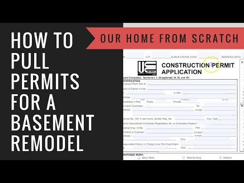 How to Pull Permits for a Basement Remodel