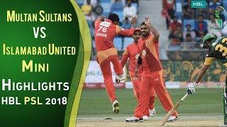 Short Highlights | Multan Sultans Vs Islamabad United  | Match 6 | 25 February | HBL PSL 2018 | PSL