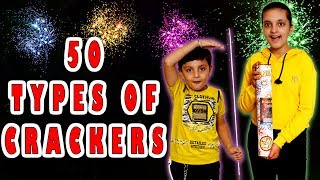 50 TYPES OF CRACKERS | HAPPY DIWALI | BIGGEST FIRE CRACKERS Aayu and Pihu Show