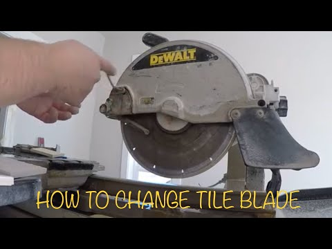 HOW TO CHANGE TILE BLADE ON DEWALT WET SAW