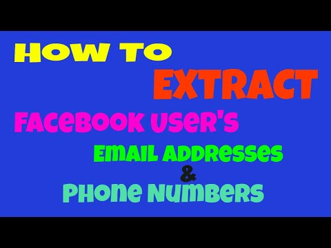 How to Scrape and Extract Facebook Users Emails and Phone Numbers 2017