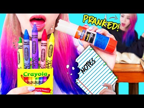 DIY Edible Pranks Using School Supplies! For Back To School 2017!