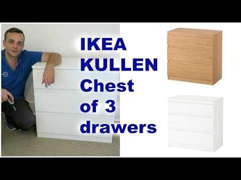 Ikea KULLEN Chest of drawers assembly