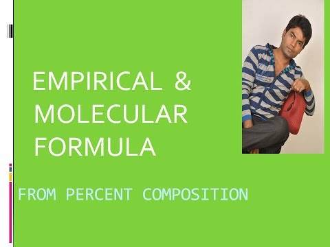 EMPIRICAL FORMULA AND MOLECULAR FORMULA  |FROM PERCENT COMPOSITION| |FOR CLASS 11| |JEE| |NEET|