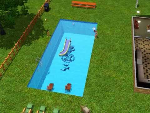 Sims 3 Water Slide