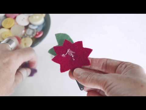 Make your own felt flower hairclips